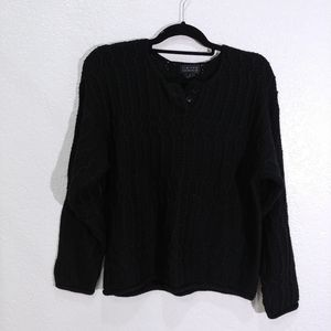 Limited Vintage Cable knit Black Sweater New. S